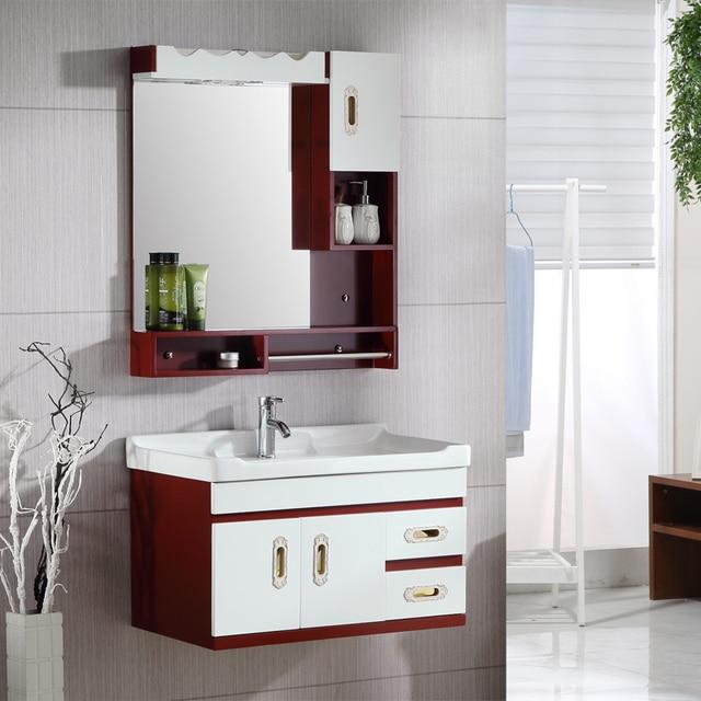 Combinação de simples moderno armário do banheiro carvalho armário de banheir -> Armario De Banheiro Simples