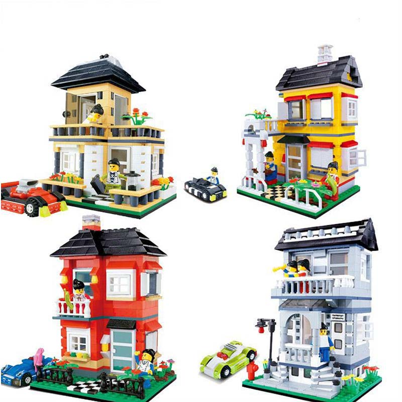 Stavanger Blocks Building Model Hilltop Villa Compatible Legoe Educational Toys