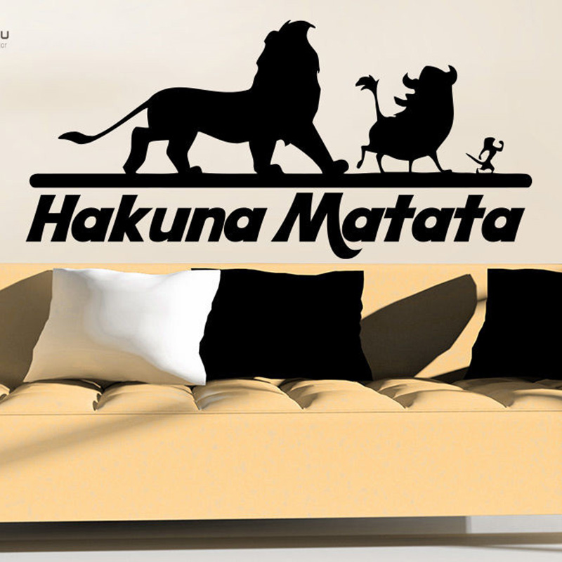 YOYOYU Vinyl Wall Decal Quote Hakuna Matata Animals Art Removeable Wall Sticker Nursery Bedroom Decor DIY Poster YO323