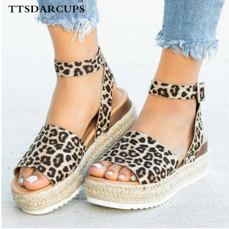 TTSDARCUPS Wedges Shoes For Women High Heels Sandals Summer  Flip Flop Chaussures Femme Platform Plus Size 35-43