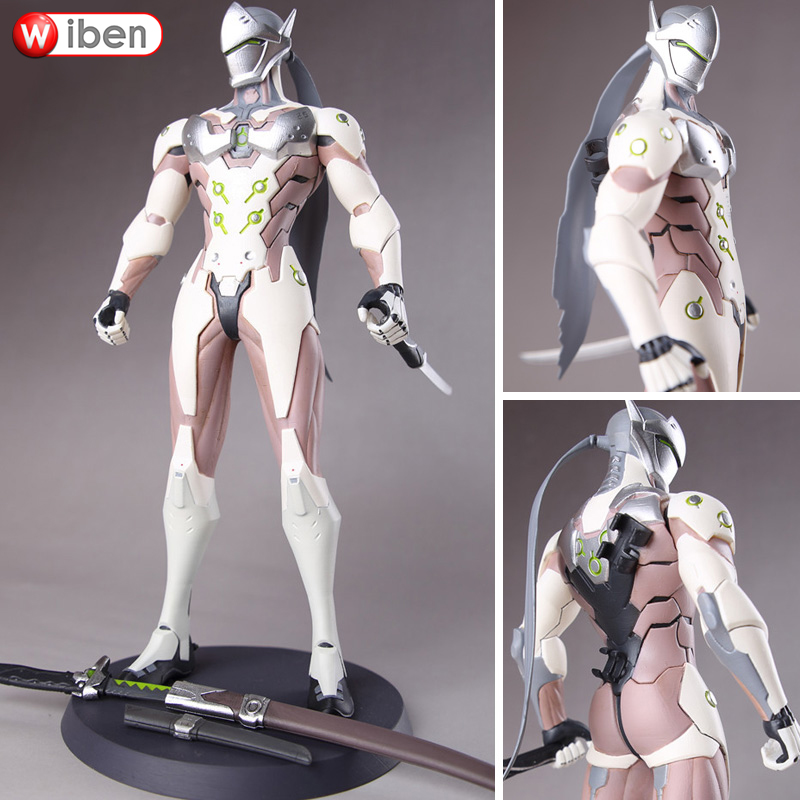 OW Game Genji PVC 28CM High Quality action & toy figures Model Limited Edition Collection Doll new stainless steel manual push self turning stirrer egg beater whisk mixer kitchen wholesale price
