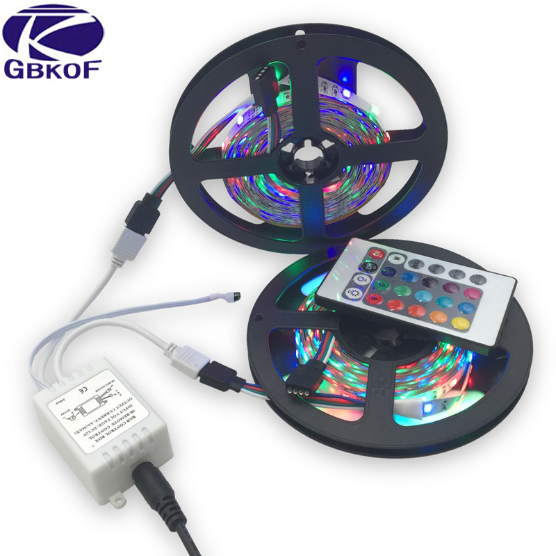 10m lot 3528 rgb led strip light 12v 60leds m 300 leds with remote control non waterproof white. Black Bedroom Furniture Sets. Home Design Ideas