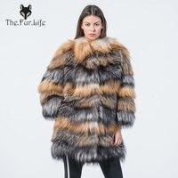 New Style Full Pelt Fox Fur Coats Silver Fox Fur Jackets and Rex Fox Fur Coats Luxury Natural Fox Fur Outerwear Big Sale