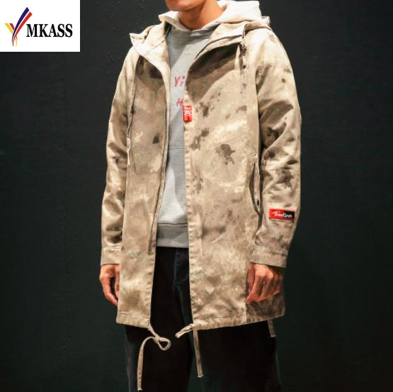 2018 Winter Casual Long Hooded Trench Coat Men Jacket Overcoat Korean Harajuku Vintage Gothic Clothing Men Long Coat Jacket