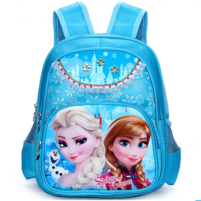 Girls School Bags Princess Elsa Schoolbags Children Backpack kids Cartoon Primary Bookbag Kids Mochila Infantil winter fur hooded warm jackets for girls padded coats thicken pu leather patchwork fox faux fur collar jacket outerwear w57