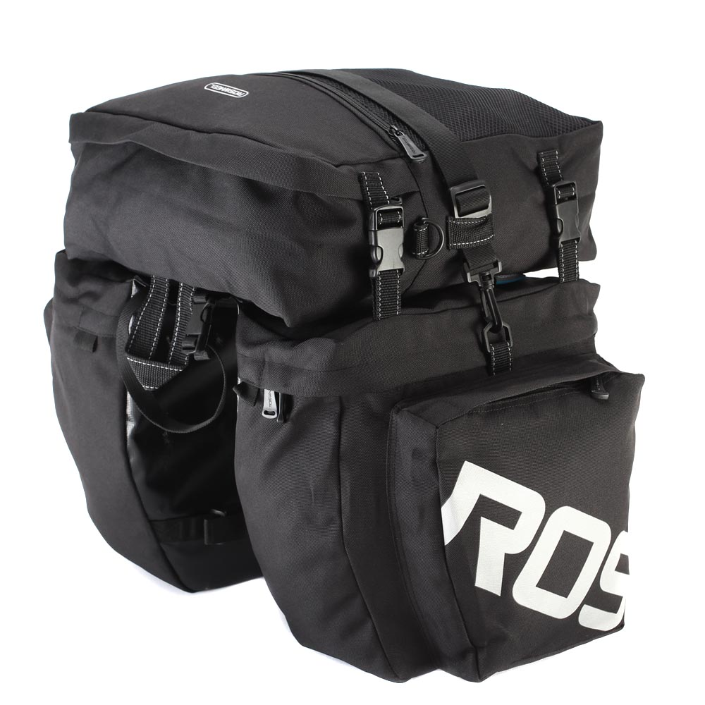 ROSWHEEL Bicycle Carrier Bag Rear Rack Trunk 37L Bike Luggage Back Seat Pannier 2 Colors 3
