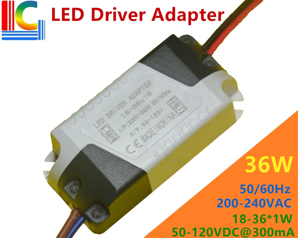Factory wholesale 18W 24W 30W 36W LED Driver Adapter 300mA LED Ceiling light Transformer LED Downlight