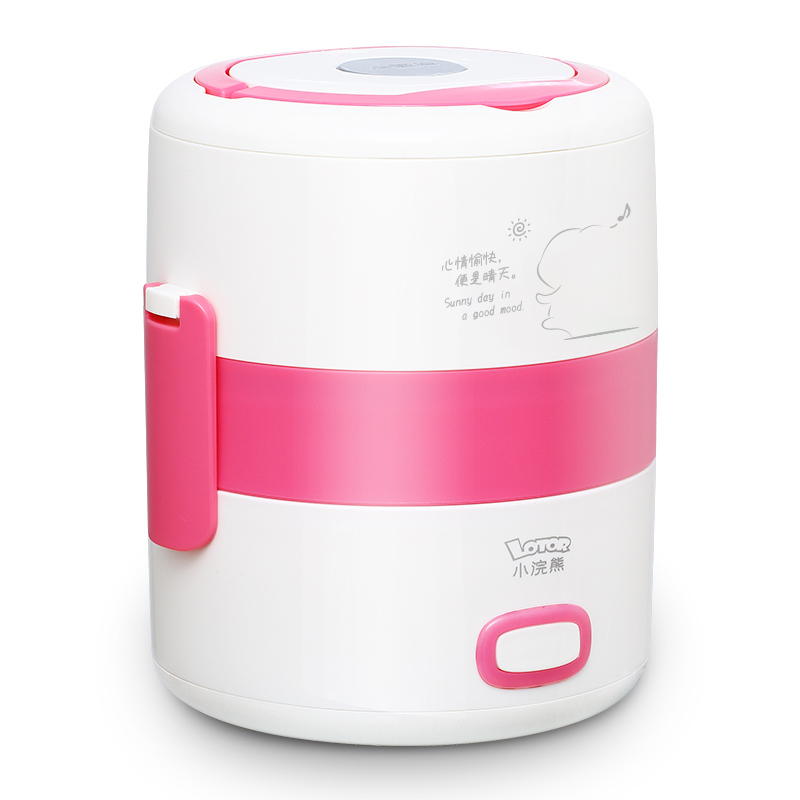 220V Electric Lunch Box Portable Rice Cooker mini Heated Lunchbox multi Multi steaming method kitchen Cooking stainless steel in Rice Cookers from Home Appliances