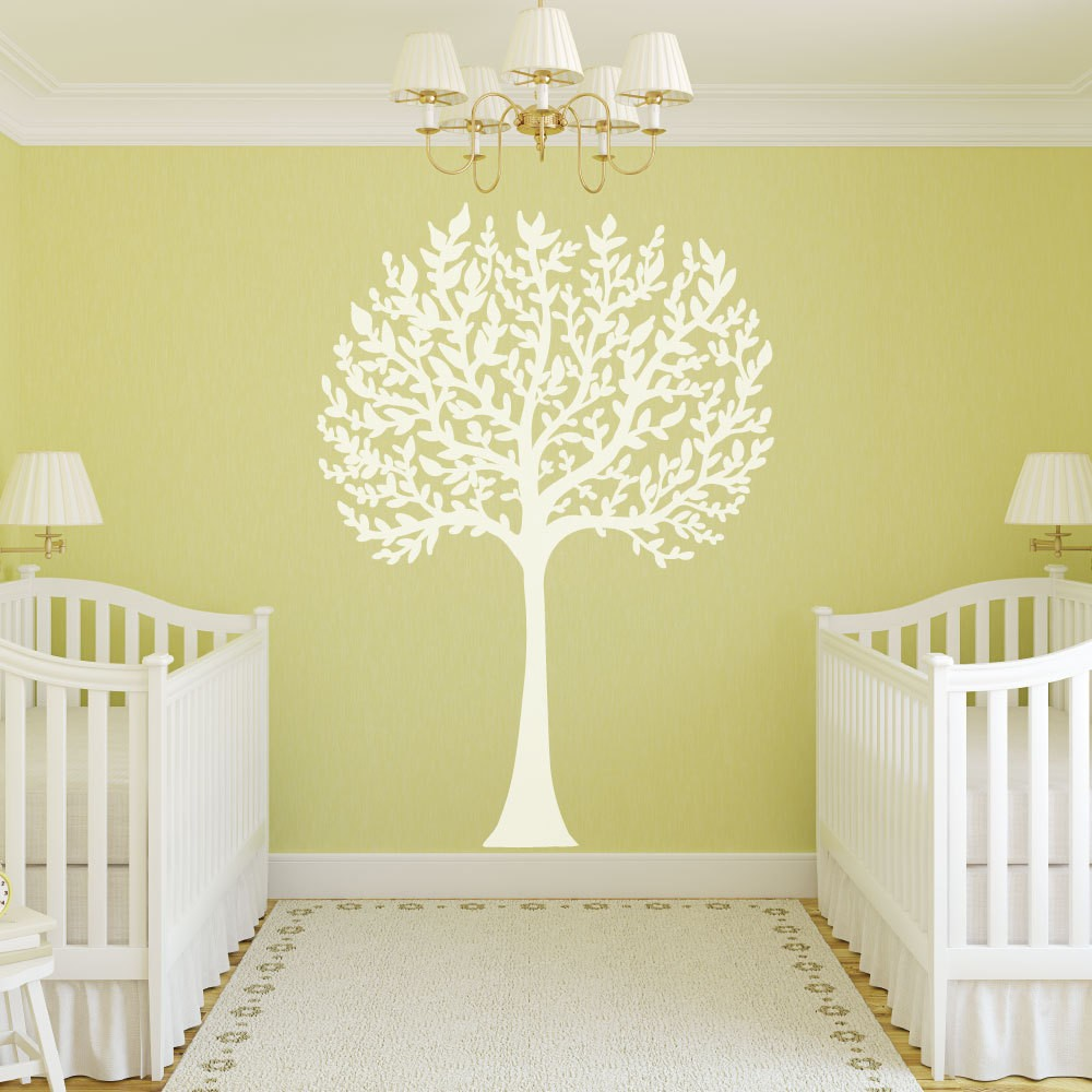 Large White Tree Branches Wall Decal Stickers For Kids Room Baby ...