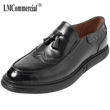 High Quality Genuine Leather business casual shoes men thick bottom natural leather loafers all-match cowhide spring