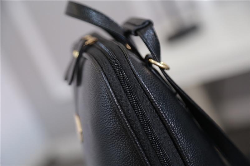 Nevenka Women Leather Backpack Tassel Female Travel Backpack Black Handle Backpacks for Girls School Bag Summer Backpacks 201804