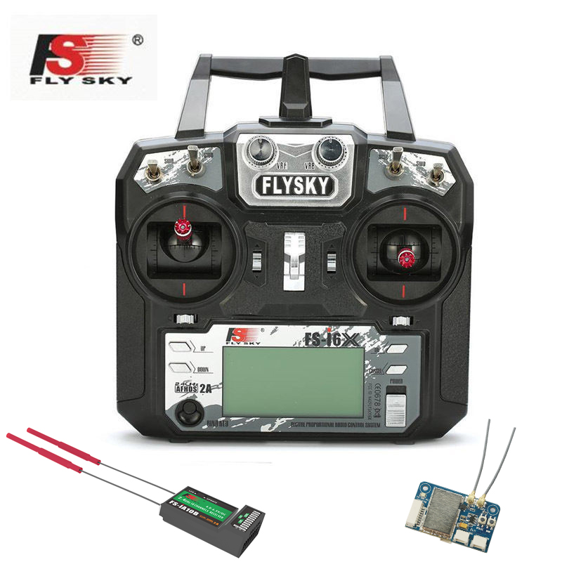 Newest 10 CH FlySky FS- I6X +IA10B / X6B I-BUS Receiver 2.4Hz AFHDS 2A RC Transmitter Remote Controll For RC Helicopter Pro