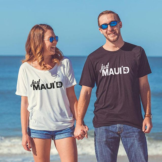 bb730bc3 Just Maui'd Wedding Shirts Shirt Destination Wedding Honeymoon Shirts  Couples Shower Gift for Groom unisex tees 90s women tops