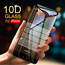 10D Tempered Glass on the For iPhone X XR XS MAX 7 8 6 Plus Screen Protector Full Cover Protective Glass Film For iPhone 6 6s 7 цены