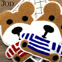 Dog Embroidery Patch on Clothes Applique Backpack Sticker Woolen Sew Patches for Clothing Accessories Big Badge Large Stripe