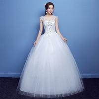 Elegant Luxury Lace Wedding Dress Vintage Plus Size v neck Hot drilling Wedding Dresses Gowns Vestido De Noiva