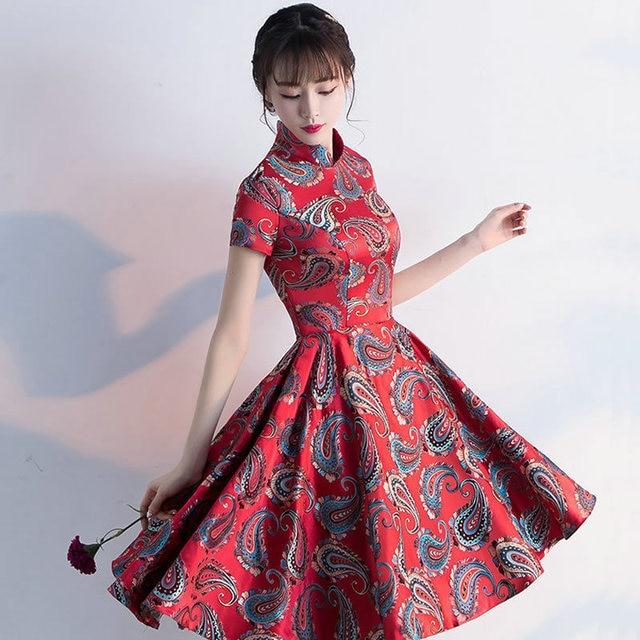 Barang Antik Cina Tradisional Gaun Pesta Wanita Klasik Wanita Qipao