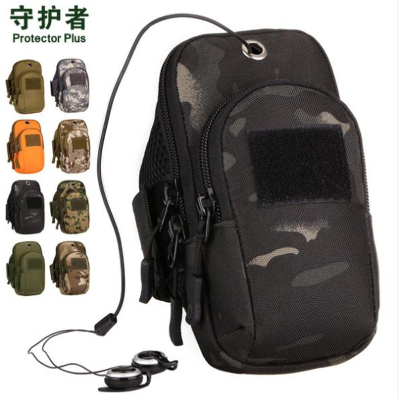 Tactical Arm Bag Protector Plus A019 Nylon Camouflage Wrist For Mobile Phone Case Gym Outdoor Sports Running