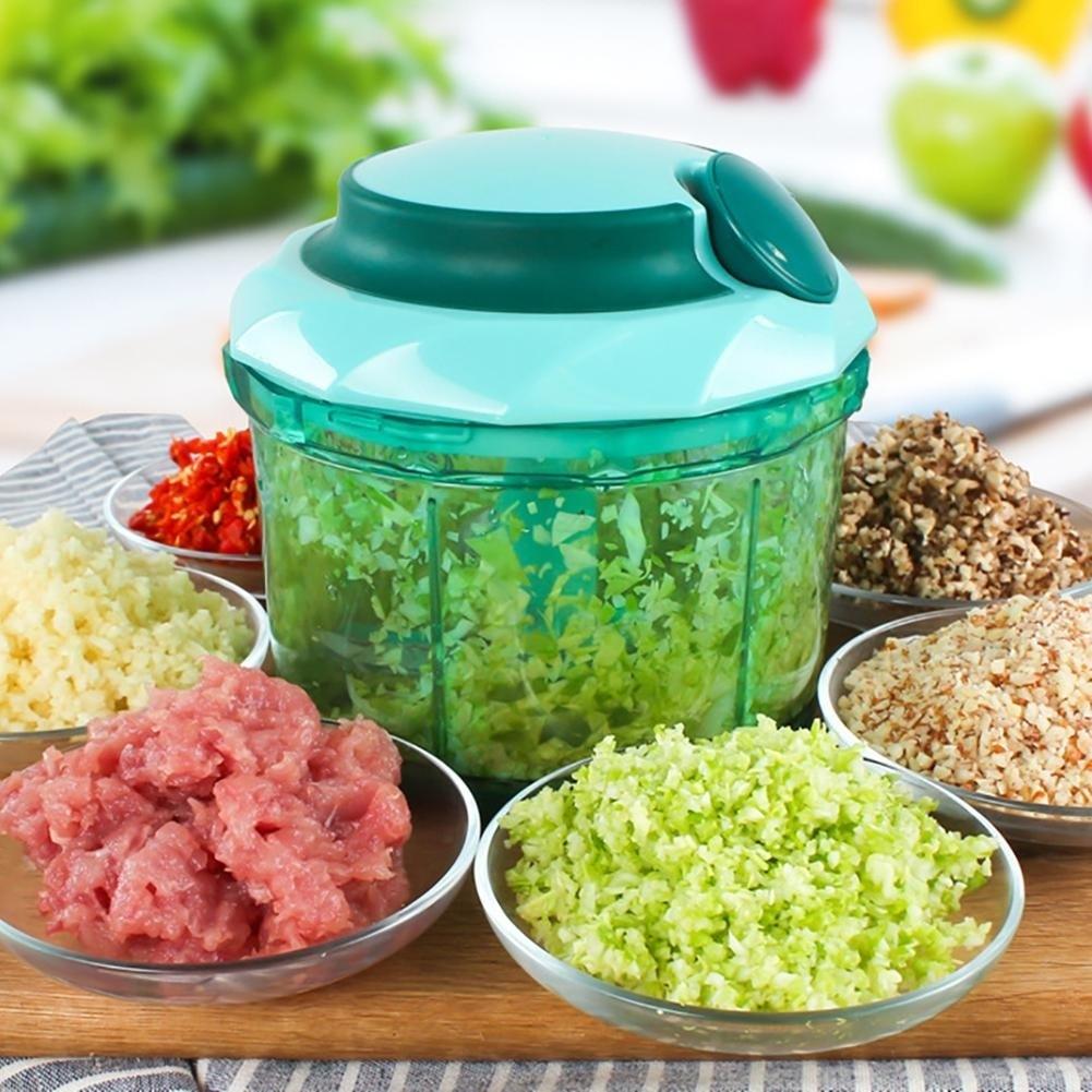 Manual Slicer Chopper Spiral Kitchen Tool Food Vegetable Meat Garlic Cutters