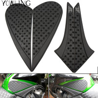 Good Quality Motorcycle Accessories Tank Carbon Fiber Tank Pad Protector Sticker For Kawasaki Z800 12 15