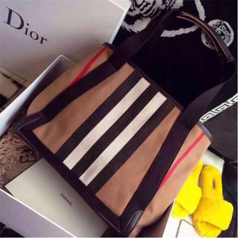 free shippin Vintage big bags female brief handbag large capacity plaid canvas bag fashion trend of the color block shoulder bag color block plaid dress