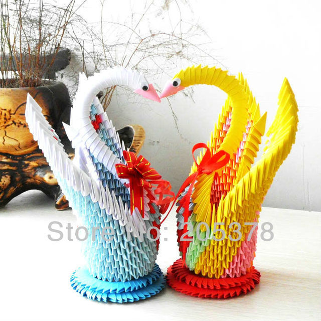 3d Origami Swan Handmade Paper Beutiful Gifts For Gids Diy Paper
