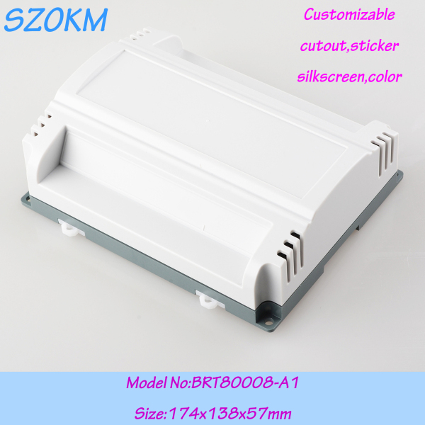 5 pcs/lot free shipping plastic industrial control enclosure plastic project box din rail enclosures 174x138x57 mm 1 piece distribution box plastic box electronics wall mount abs din rail case control box 145x90x40mm