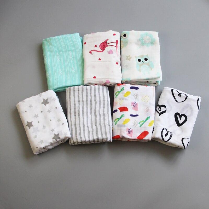 100% Bamboo Fibre Baby Swaddle Miękkie noworodka Koce Niemowlę Wrap - Pościel - Zdjęcie 1