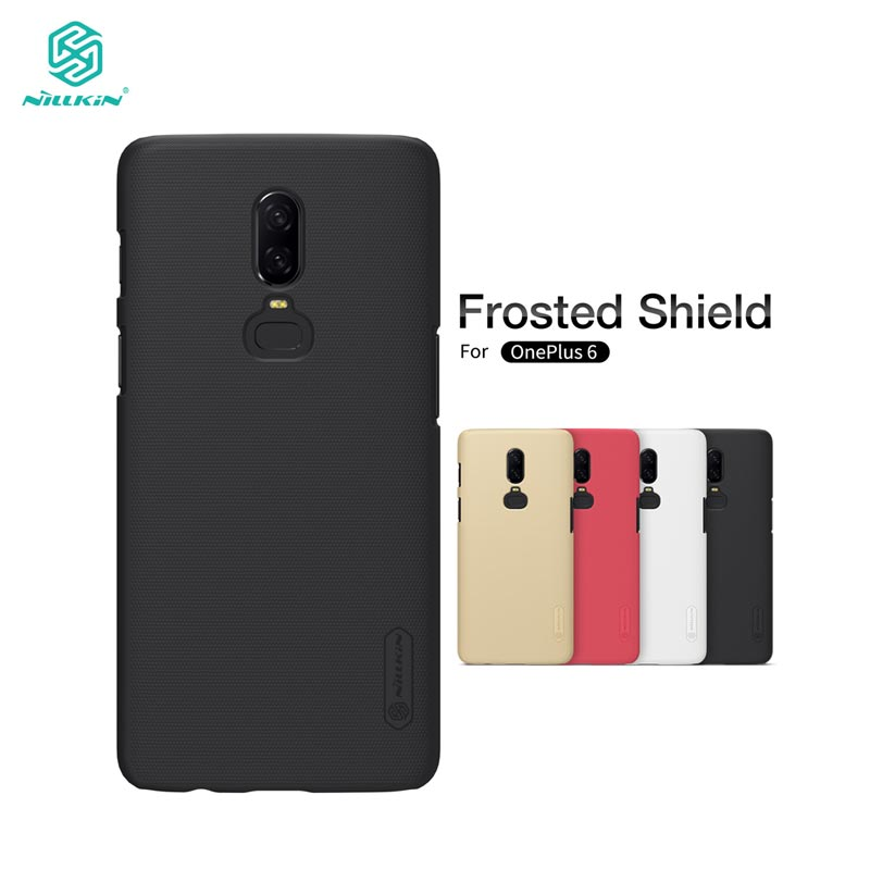 OnePlus 6 Case Nillkin Frosted Shield Plastic Back Cover Case for OnePlus 6 5T One Plus 5 3 A3000 Gift Screen Protector