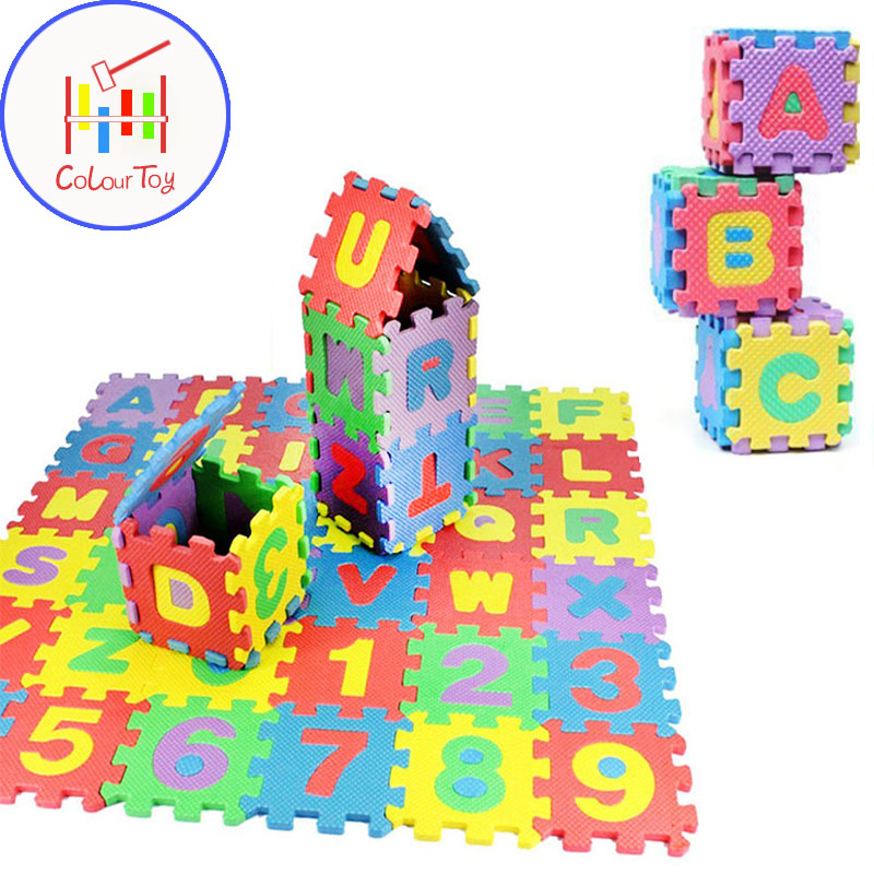 Foam Mat Puzzle Crawling Letters & Numbers Mini Floor Play