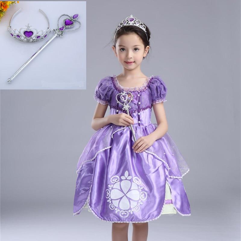 Sofia Princess Dress Kids Cosplay Costumes Girls New Arrival: Kids Girl Princess Sofia The First Costume Halloween