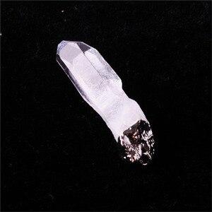 Image 3 - סיטונאי 12 יח\חבילה טבעי פנינה אבן סדיר ברור קוורץ לבן קריסטל פוינט תליון מטוטלת עבור שרשרת משלוח חינם