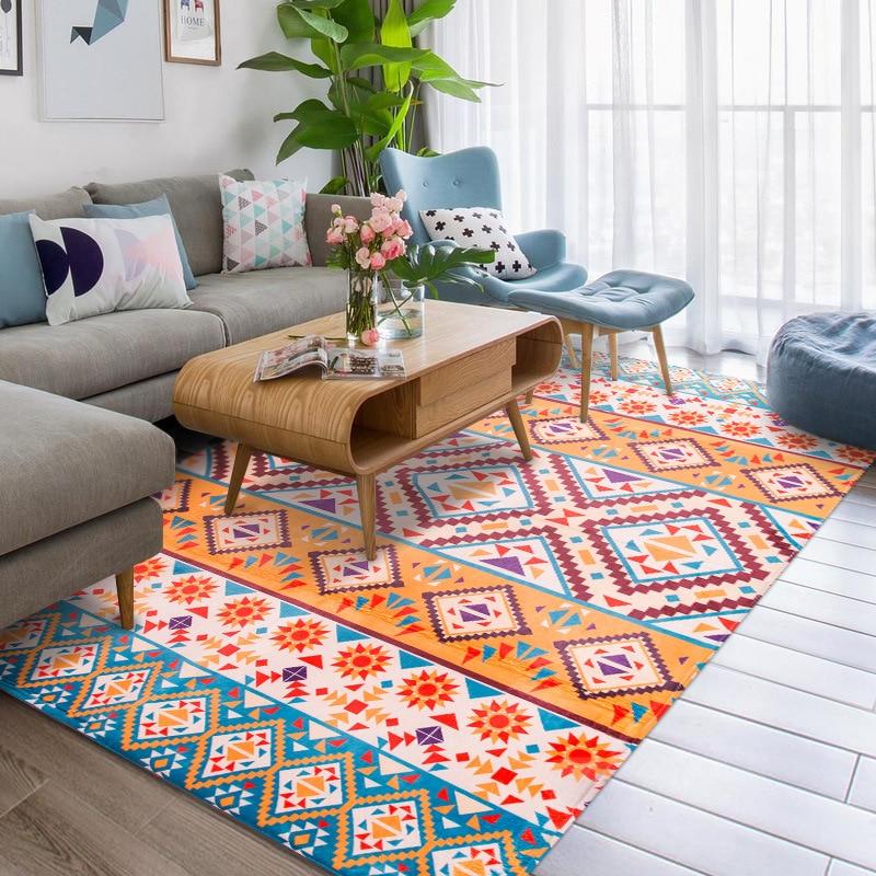 Nieuwe 3D kleur Tapijt Custom Moderne Geometrische alfombra voor Woonkamer Slaapkamer Parlor Karpetten Thuis Decoratieve Vloermat Tapijten-in Tapijt van Huis & Tuin op  Groep 1