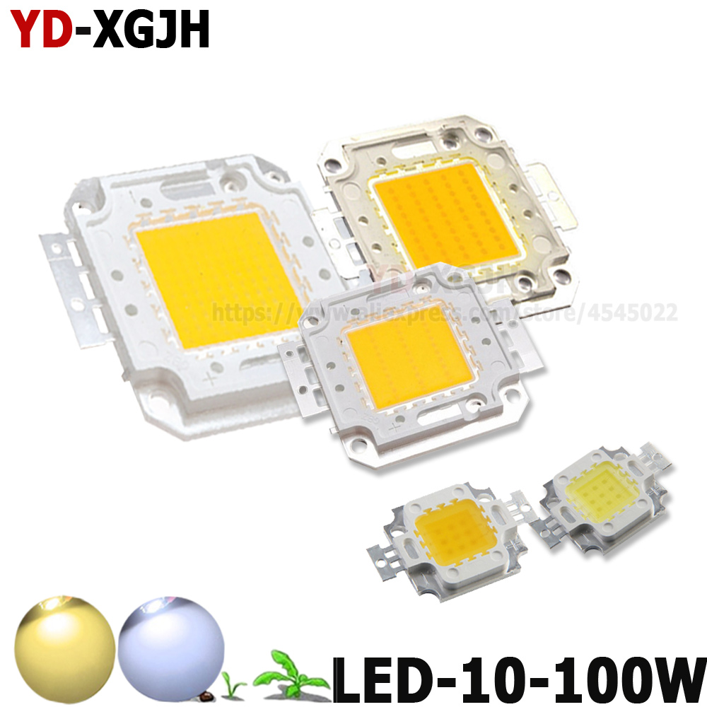 10W 20W 30W 50W 100W High Power LED COB Chip SMD Light For Warm White/Pure White DIY 10 20 30 50 100W Watt Outdoor LED Foodlight