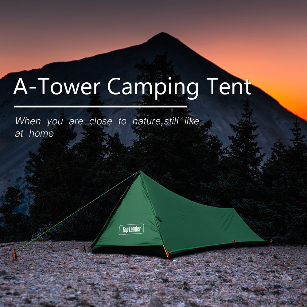 A Tower Outdoor Camping Tent 1 Person Hiking Travel Waterproof Single Solo Bivvy Tent 20D Silicone
