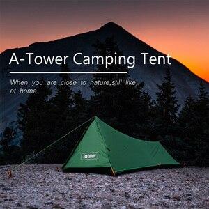 Image 2 - Туристическая палатка A Tower, на 1 человек, водонепроницаемая одноместная двухслойная, 20D силиконовая, Ультралегкая, для одного лагеря