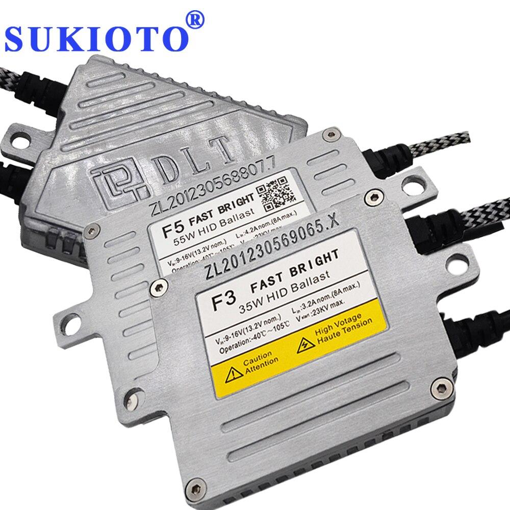SUKIOTO Igniter Xenon DLT Ballast 55W F5T 35W F3T 70W F7T Dlt Xenon Ignition Blocks Unit Ballast For HID Xenon KIT H11 Yeaky H7