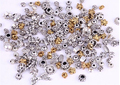 OMH wholesale  120pcs antique silver/golden Tibetan Silver Flower Caps/Beads For Jewelry making ZL202