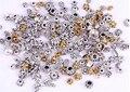 Omh venden al por 120 unids antique Silver / oro / de plata tibetana de la flor gorras / los granos For joyería que hace el ZL202