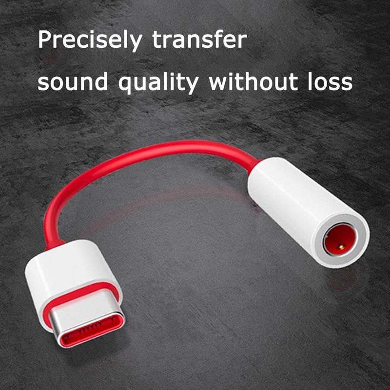 Earphone Adapter For Oneplus 6T Type C To 3.5mm Headphone Jack Adapter Aux Audio USB Type C Music Converter Cable