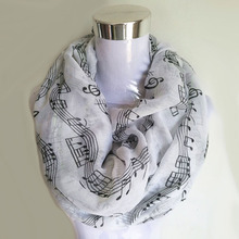Music Note Infinity Scarf
