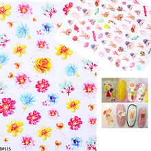 3D Cute Nail Art Stickers Flowers Butterfly Feather Pattern Adhesive Tips Decal DIY Beauty Decorations