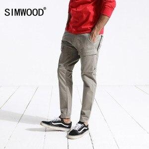 Image 2 - SIMWOOD 2020 mode Cargo pantalon hommes fermeture éclair poche cheville longueur Streetwear pantalon tactique Hip Hop marque vêtements 180425
