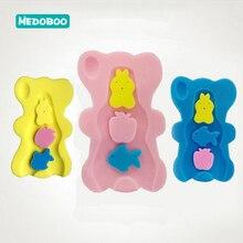 Medoboo Cartoon Baby Shower Sponge Cushion Pad Tub Non-slip Newborn Shower Rack Bath Bed Sponge Mat Seat Baby Bath Holder 25 цена в Москве и Питере