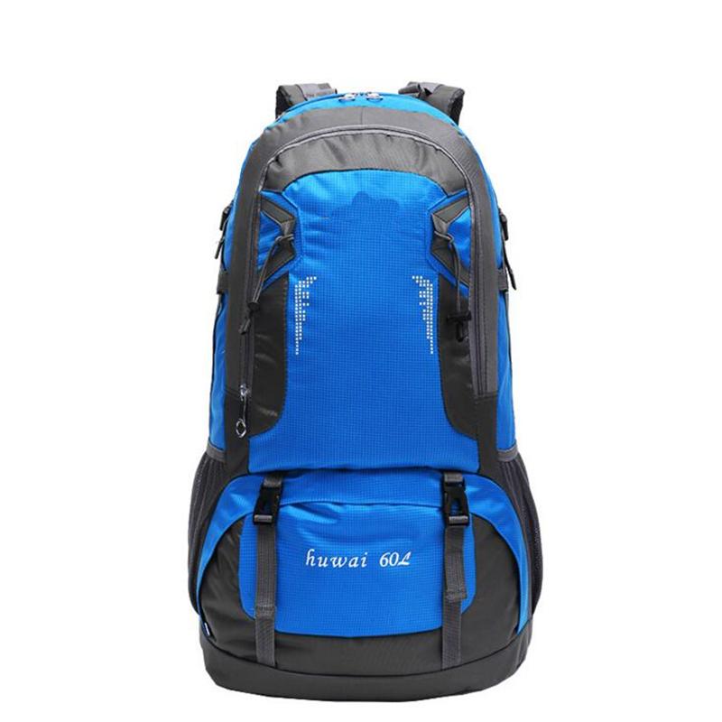 Prix pour Vente chaude! 60L Femmes et Hommes de grande capacité sac à dos marque qualité voyage sac packs étanche nylon sacs à dos D02