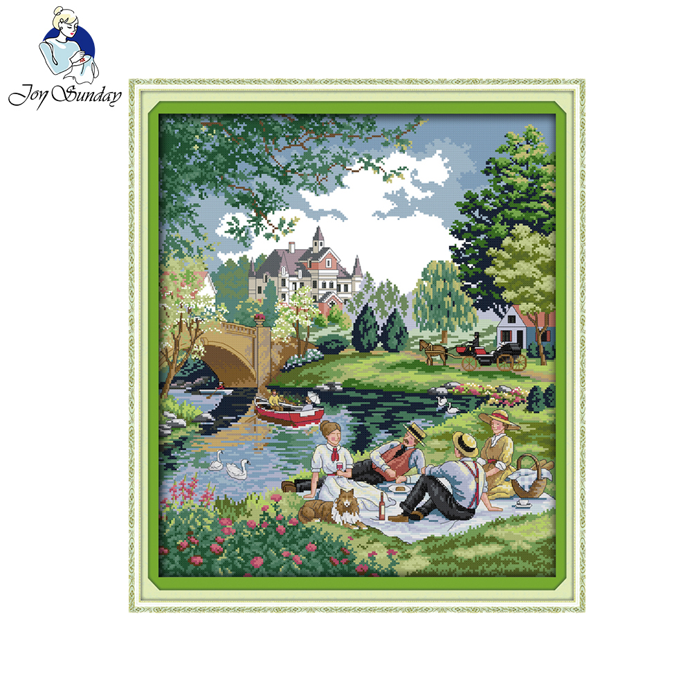 Joy Sunday Chinese Cross Stitch A Picnic In The Suburbs 11ct 14ct