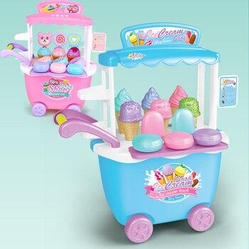 DIY juego De helados tienda De coches Cocina Comida en miniatura Cocina...