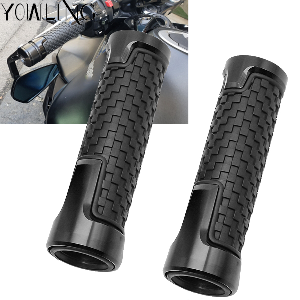 Motorcycle Accessories CNC Aluminum+ Rubber handle grips racing handlebar grip For <font><b>KAWASAKI</b></font> Z900 <font><b>Z</b></font> <font><b>900</b></font> <font><b>2017</b></font> 2018 z900 Z650 image