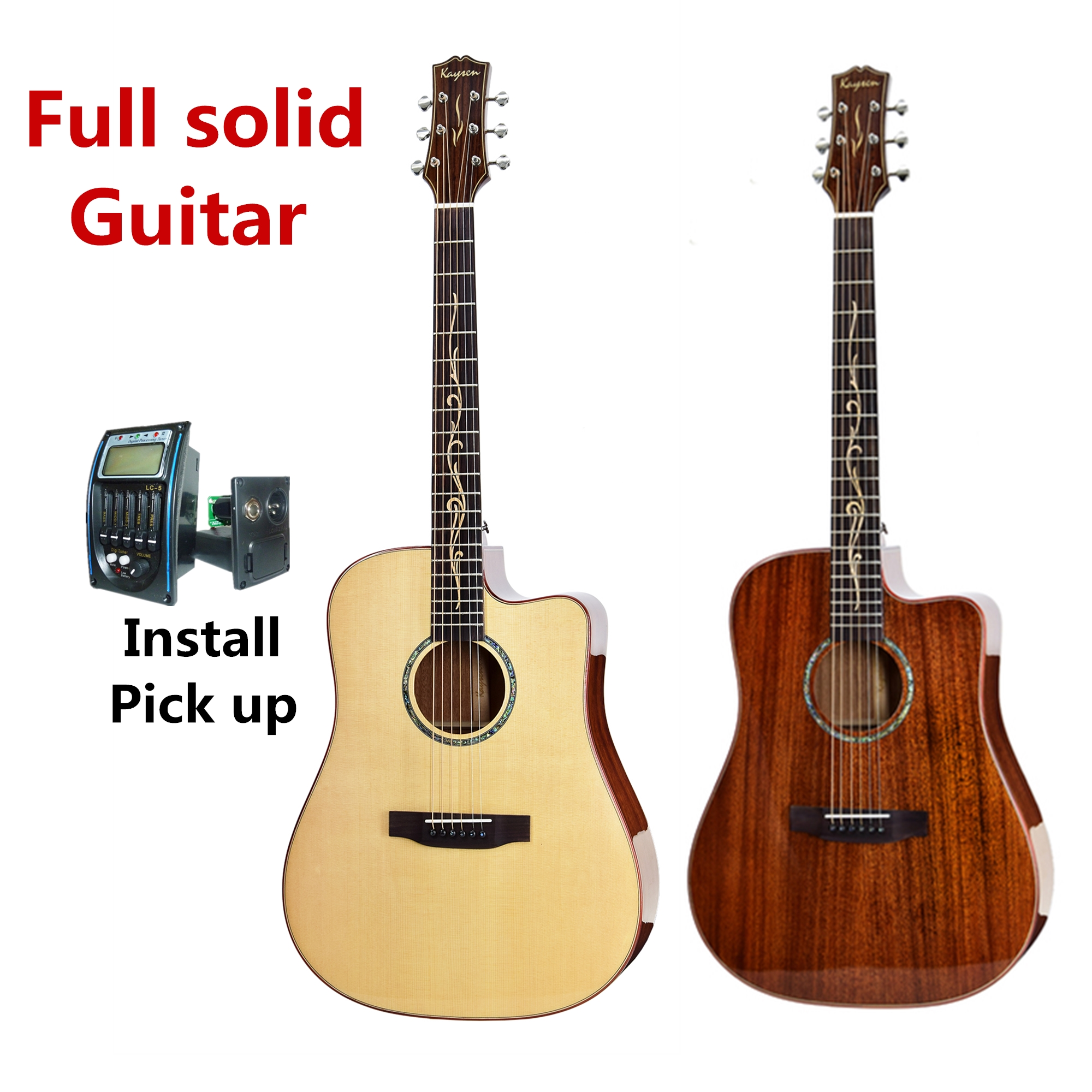 buy guitar full solid electric acoustic 41 inch d 6 steel string balladry folk. Black Bedroom Furniture Sets. Home Design Ideas