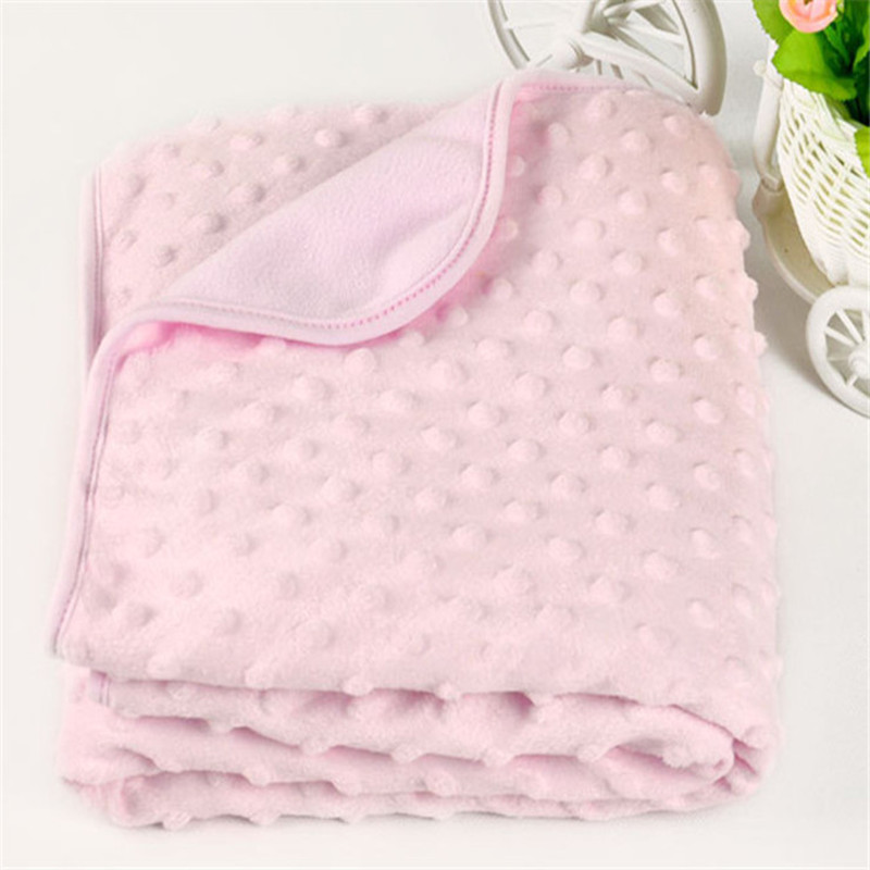 Baby Blanket for Newborn Thermal Soft Fleece Bebes Blanket Soft Swaddling Bedding Set Size 100*75cm